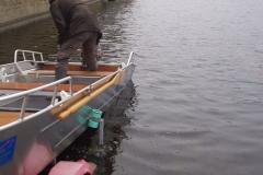 Lightweight aluminum fishing boat