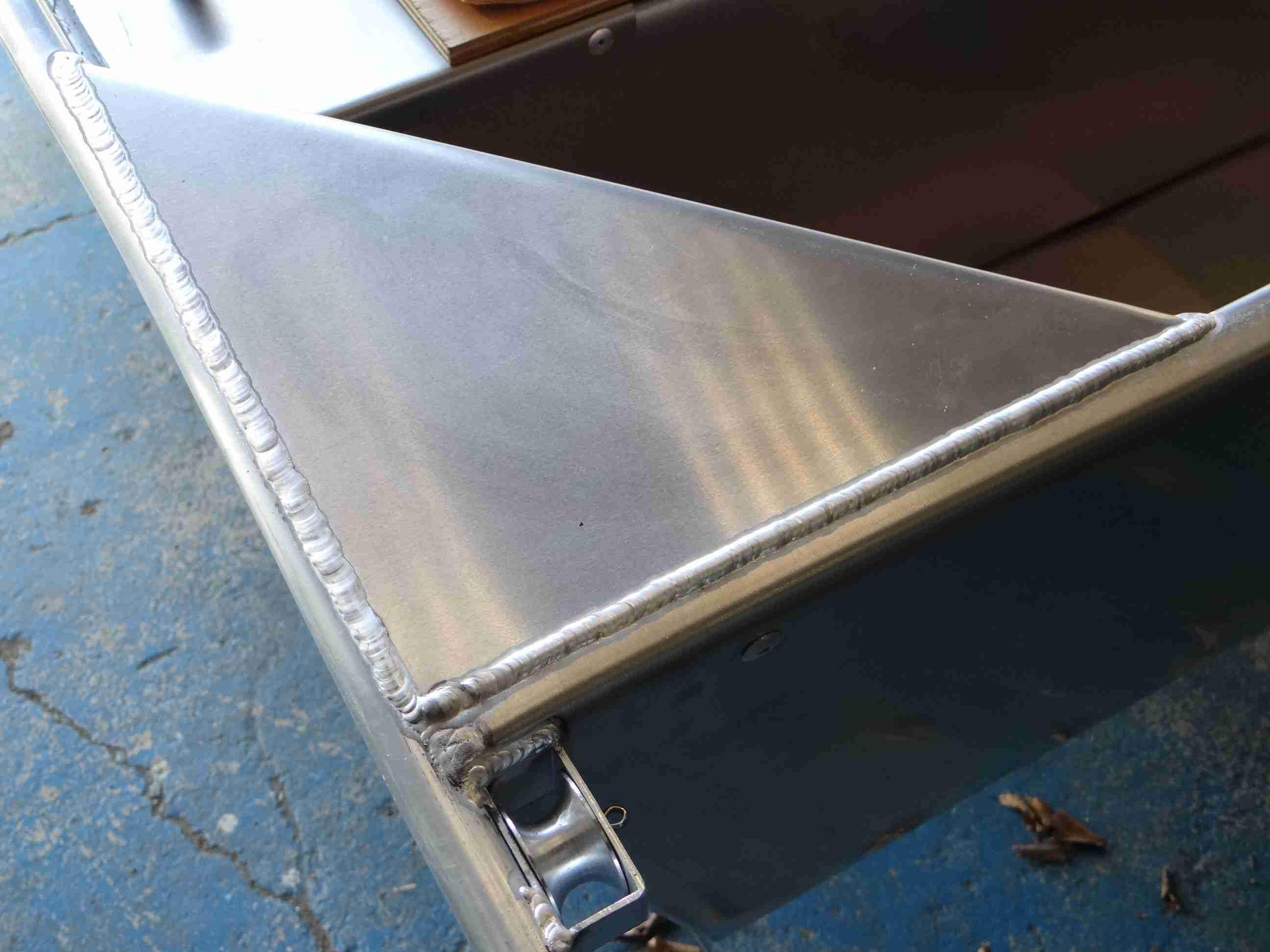 Welded aluminium boat